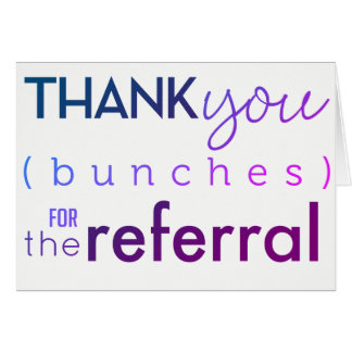 Business Referral Thank You Card