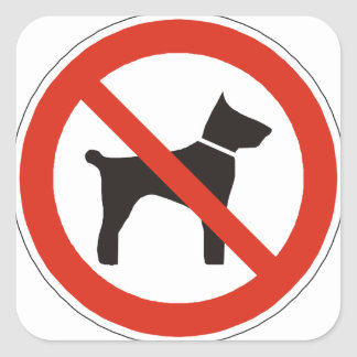 Business Supplies No Dogs Square Sticker