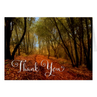 Business Thank You - Woodland Path Card