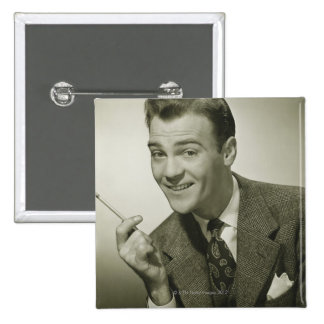 Businessman 15 Cm Square Badge