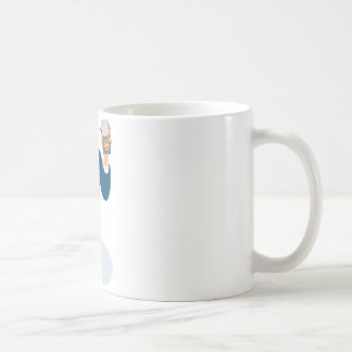 businessman secret agent showing id card badge wal basic white mug