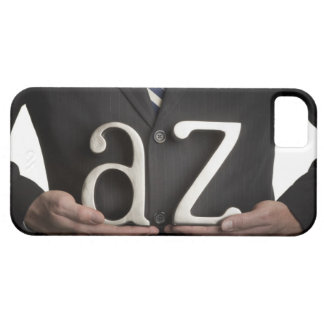 Businessman with A to Z letters iPhone 5 Case