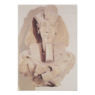 Bust of Amenophis IV from the Temple of Amun Poster