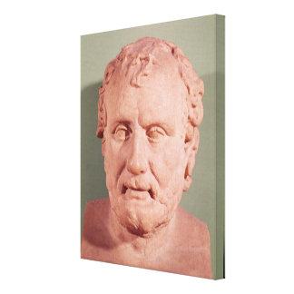 Bust of Eschinus, c.480-476 BC Canvas Print
