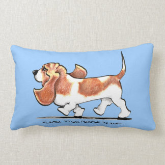 Busy Basset Hound Lumbar Cushion