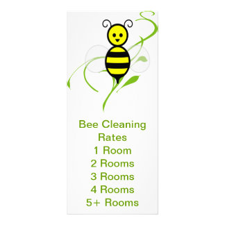 Busy Bee Service Rates Handout Customised Rack Card