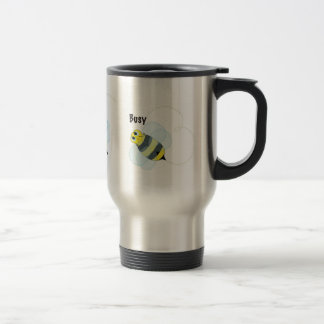 busy bee stainless steel travel mug