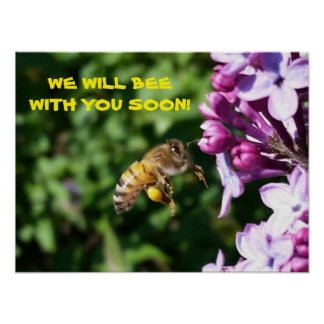 Busy Bee - Waiting Room Be With You Soon Poster