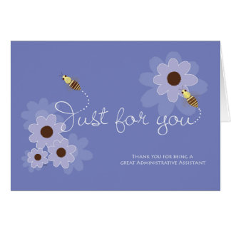 Busy Bees on Flowers for Admin Pro Assistants Card