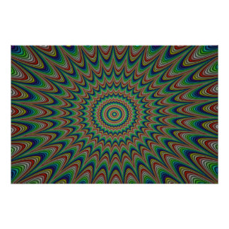 Busy eye optical illusion poster