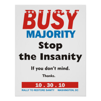Busy Majority poster