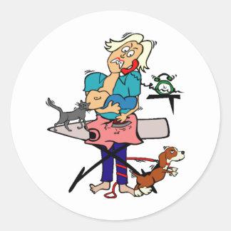 Busy Mom Round Sticker