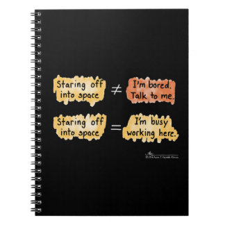 Busy Working Black Notebook