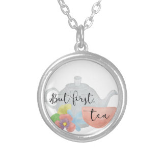 But first, Tea Silver Plated Necklace