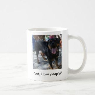 """""""but, I love people!"""" Basic White Mug"""