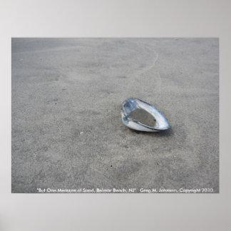But One Measure of Sand, Belmar Beach, NJ Poster