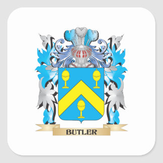 Butler Coat of Arms Square Sticker