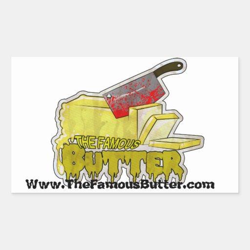 Butter Rectangle Sticker