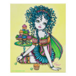 """""""Buttercup"""" Cute Cup Cake Fairy Poster"""