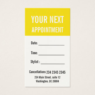 Buttercup Yellow Professional Appointment Reminder