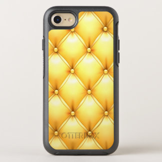 Buttered Popcorn Yellow Buttoned Tuft Leather OtterBox Symmetry iPhone 8/7 Case