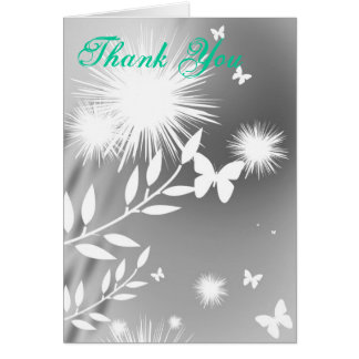 butterflies and clovers, Thank You Note Card