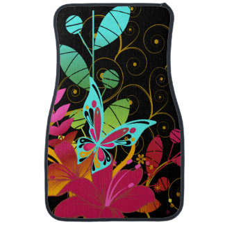 Butterflies and Flowers Car Mat