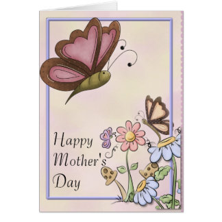 Butterflies and Flowers Mother's Day Card