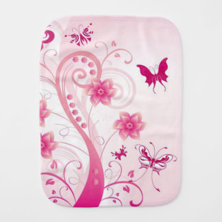 Butterflies and Swirls/Burp Cloth Baby Burp Cloth