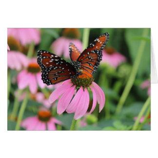 Butterflies blank note card