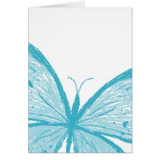 Butterflies blue note card