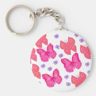butterflies dig2.jpg basic round button key ring