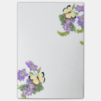 Butterflies Flowers Floral Garden Post It Notes