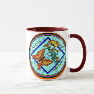 Butterflies & Flowers Mug