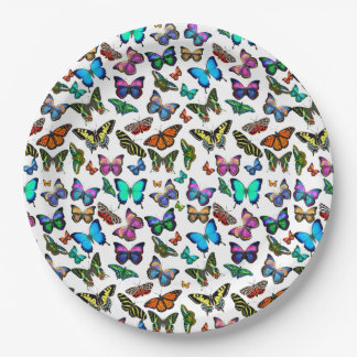 Butterflies Galore Paper Plates 9 Inch Paper Plate