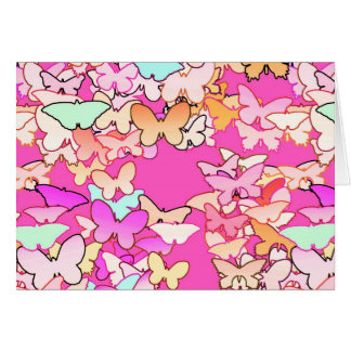 Butterflies, multi and deep pink cards