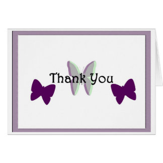 Butterflies of Thanks Card