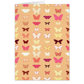 Butterflies, orange, yellow and coral cards
