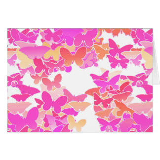 Butterflies, pink, fuchsia and coral cards