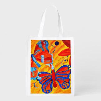 Butterflies Reusable Grocery Bag