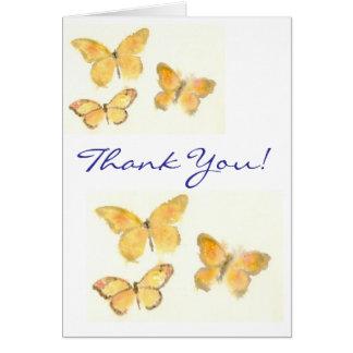 Butterflies 'Thank You' Notecard Greeting Cards