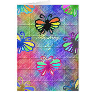 Butterflies Thinking Of You... Note Card