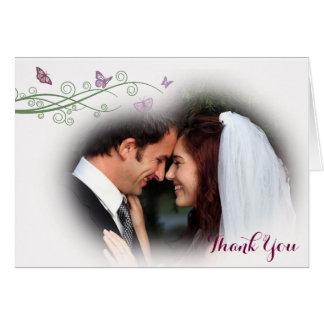 Butterflies Wedding Thank You Card