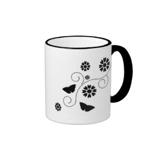Butterfly And Hearts Mugs