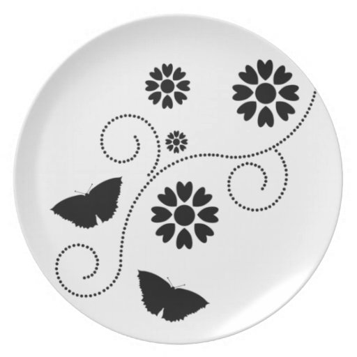 Butterfly And Hearts Plate