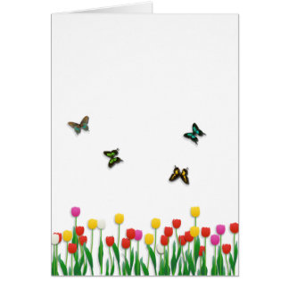 Butterfly and Tulips Card