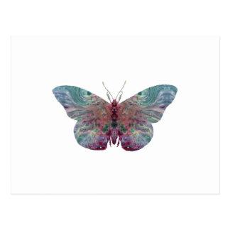 Butterfly art postcard