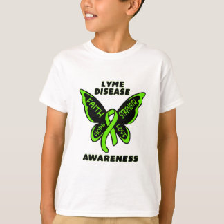 Butterfly/Awareness...Lyme Disease T-Shirt