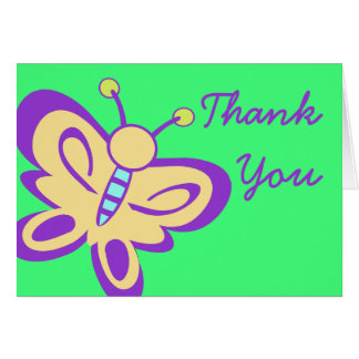 Butterfly Baby Thank You Note Card