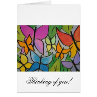 Butterfly Blank Card, Thinking of You Note Card
